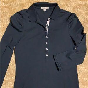 Authentic Burberry Brit ladies 3/4 sleeve polo